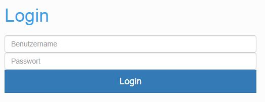 Screenshot Frontend Login